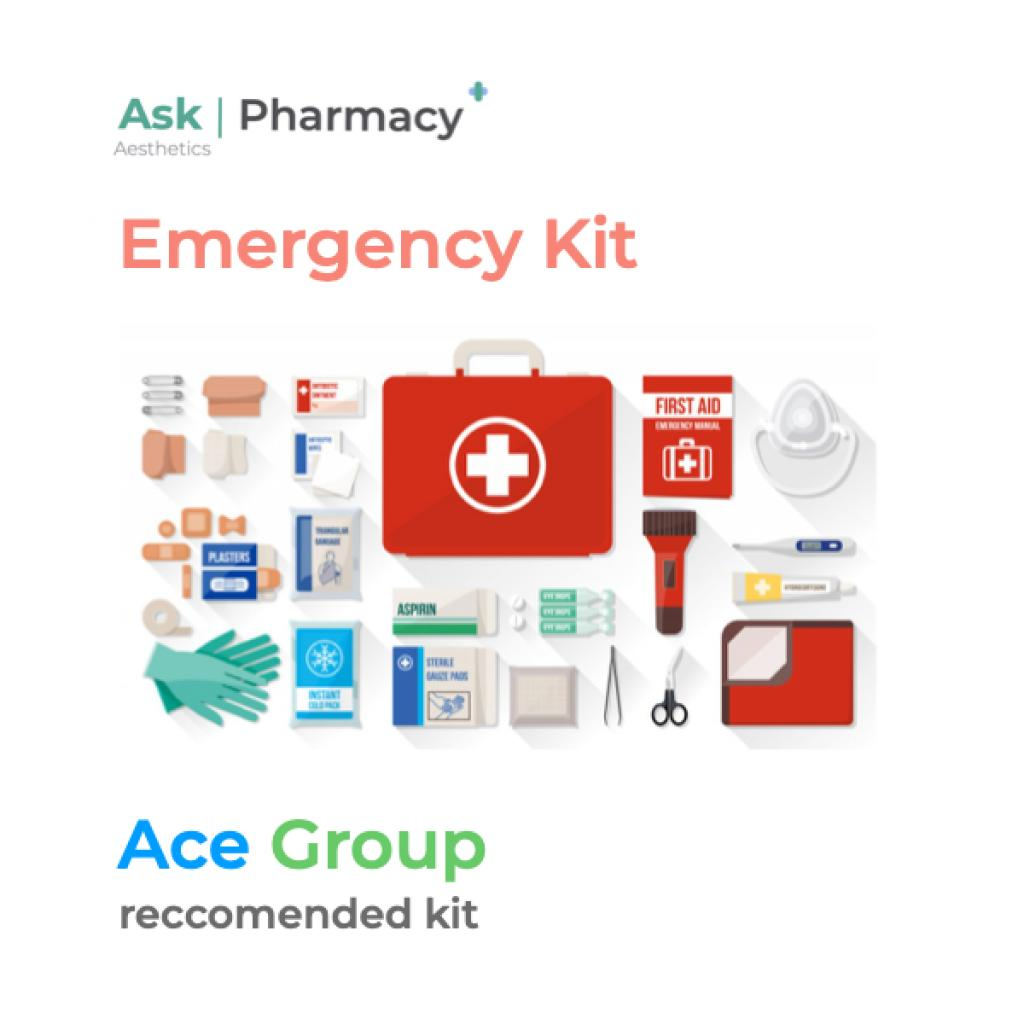 What is an aesthetics emergency kit?
