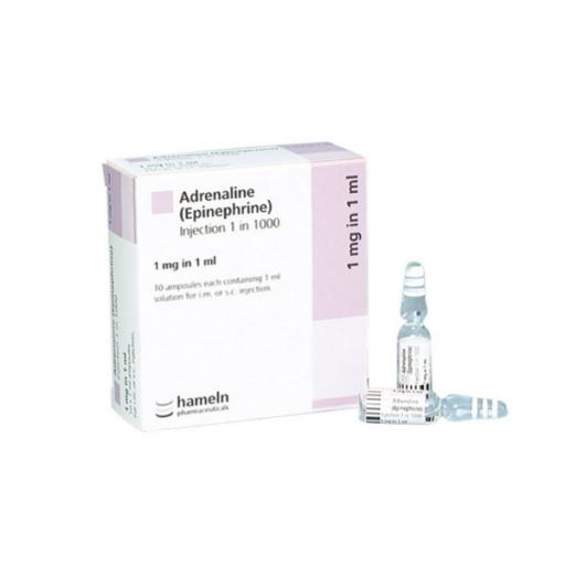 Adrenaline 1:1000-1mg 1ml Ampoules x 10